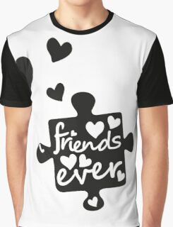 Best Friends Forever Connection Puzzle (right) Graphic T-Shirt