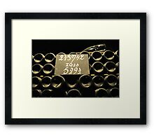 Champagne in the process Framed Print