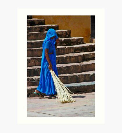 Sweep in Blue Art Print
