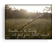 Breathe in the Beauty Canvas Print
