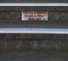Steps & landings may be slippery by Daniel Rankmore