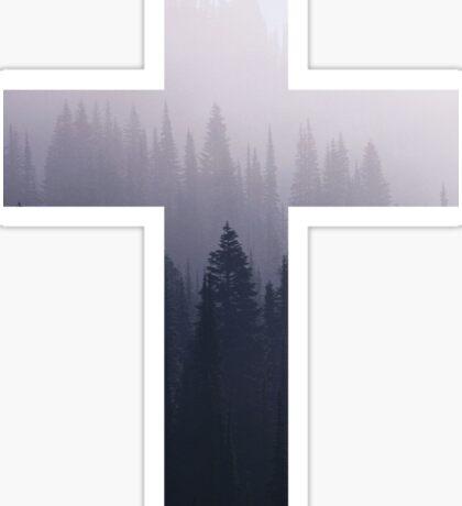 Forest Cross Sticker