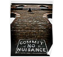 Commit No Nuisance Poster