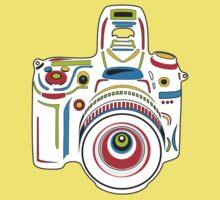 Rainbow Camera Fun Baby Tee