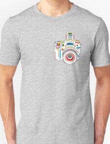 Rainbow & Grey Camera Fun T-Shirt
