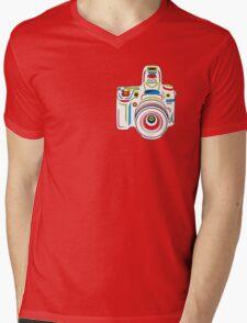 Rainbow Camera Fun Mens V-Neck T-Shirt