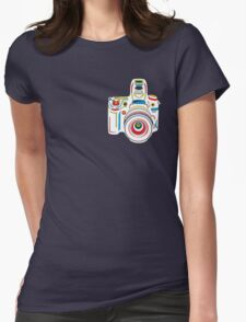 Rainbow Camera Fun Womens Fitted T-Shirt