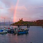 Rainbow and boats by KerryPurnell