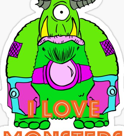 I Love Monsters Sticker