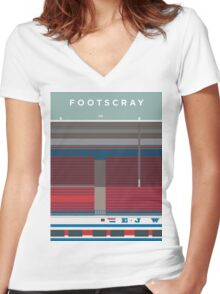 Footscray Women's Fitted V-Neck T-Shirt