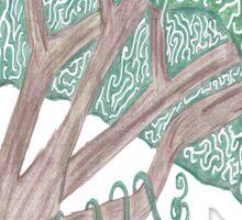 Spiral Tree Sticker