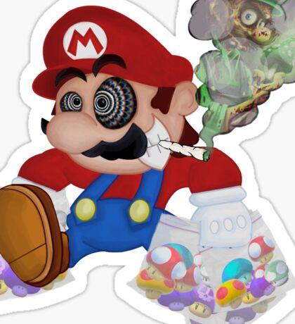 Mushed Mario Sticker