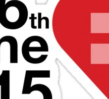 Date of Equal Love Sticker