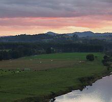Manning Sunset Panorama by Liz Worth