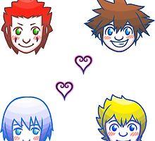 Kingdom Hearts Shuffle- Group 1 by LunaCalamity