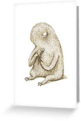 Sloth With Flower by Sophie Corrigan