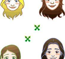 CW Arrow Shuffle- Group 2 by LunaCalamity