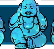 Buddhas: See no, Hear no, Speak no evil  Sticker