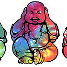 Buddhas: See no, Hear no, Speak no evil 2 by kzenabi