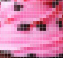 Pink Pixel Art Cupcake Sticker