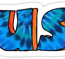 Cuse Blue and Orange Tie Dye 2  Sticker