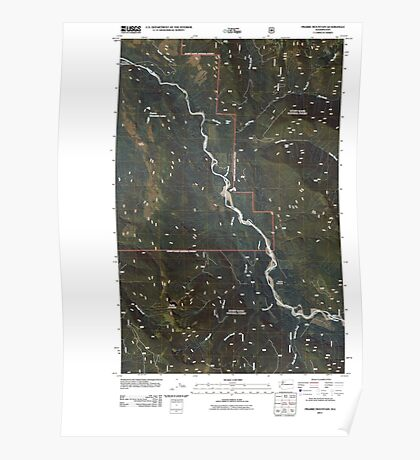 USGS Topo Map Washington State WA Prairie Mountain 20110425 TM Poster