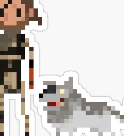 Pixel Big boss & Diamond dog Sticker