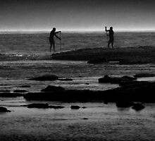 Duelling Paddle-boarders  by LieselMc
