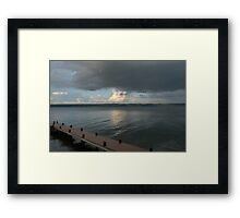 water and sky Framed Print