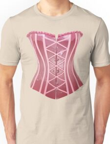 Pink Latex Corset Unisex T-Shirt