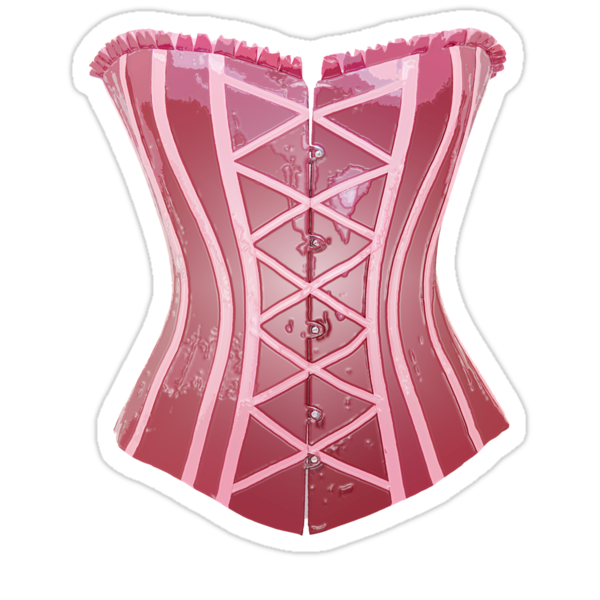 Pink Latex Corset by Paul  Green
