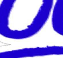 100 emoji BLUE Sticker