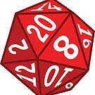 20 Sided Dice by DetourShirts