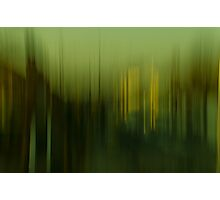 Motion Blurs - Window View No. 5 Photographic Print
