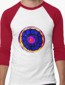 Colorful Floral Pattern Men's Baseball ¾ T-Shirt