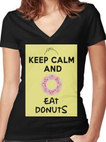 Donuts Women's Fitted V-Neck T-Shirt