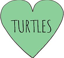 I Love Turtles-  Stickers by Rob Price