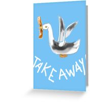 TAKE AWAY BIRD/COLLECTION Greeting Card
