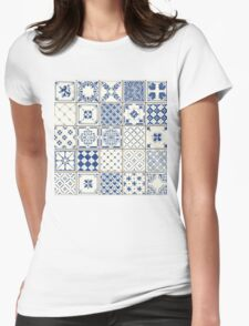 Traditional Vintage Ceramics Womens Fitted T-Shirt