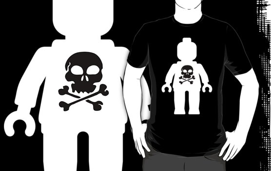 Minifig with Skull Design by Customize My Minifig by ChilleeW