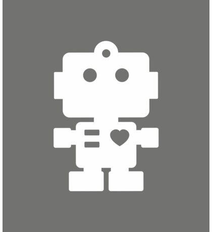 Robot - steel & white Sticker