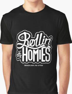 Brazilian jiu-jitsu (BJJ) Rollin' With My Homies Graphic T-Shirt