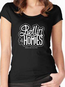 Brazilian jiu-jitsu (BJJ) Rollin' With My Homies Women's Fitted Scoop T-Shirt