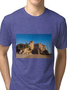 Castle of Ferragudo, Algarve, Portugal  Tri-blend T-Shirt