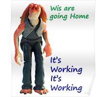 Jar Jar Star wars action figure Poster