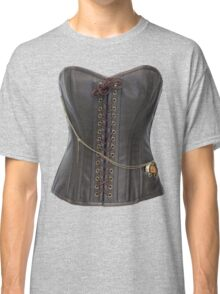 Steampunk Brown Leather Corset Classic T-Shirt