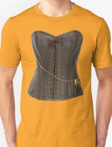 Steampunk Brown Leather Corset T-Shirt