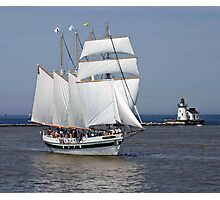 Tall Ship In Cleveland Harbor Photographic Print