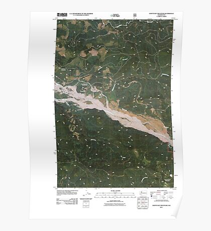 USGS Topo Map Washington State WA Hoffstadt Mountain 20110511 TM Poster
