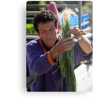 Farmers Market Spring Onions Metal Print